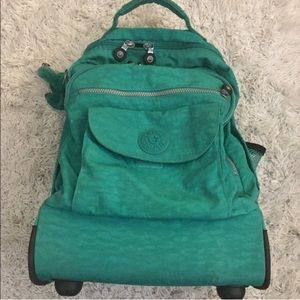 Kipling🐒 Rolling Backpack Teal